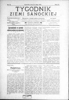 Tygodnik Ziemi Sanockiej, 1913, nr 21
