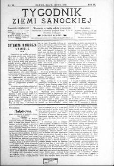 Tygodnik Ziemi Sanockiej, 1913, nr 25