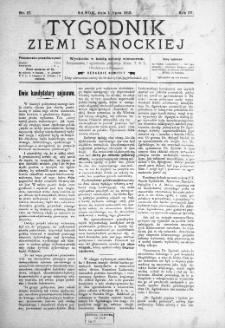 Tygodnik Ziemi Sanockiej, 1913, nr 27