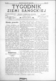 Tygodnik Ziemi Sanockiej, 1913, nr 30