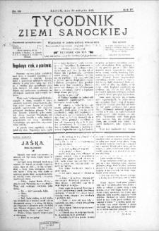 Tygodnik Ziemi Sanockiej, 1913, nr 33