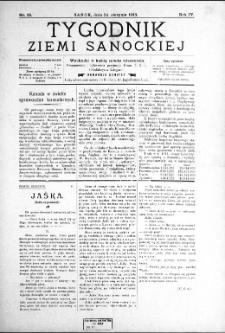 Tygodnik Ziemi Sanockiej, 1913, nr 35