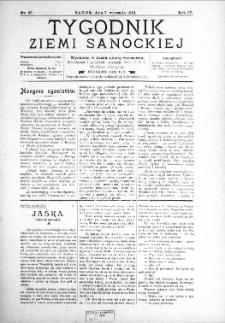 Tygodnik Ziemi Sanockiej, 1913, nr 37