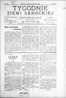 Tygodnik Ziemi Sanockiej, 1913, nr 38