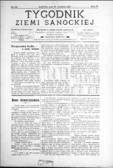 Tygodnik Ziemi Sanockiej, 1913, nr 39