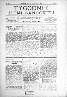 Tygodnik Ziemi Sanockiej, 1913, nr 44