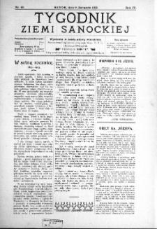 Tygodnik Ziemi Sanockiej, 1913, nr 46