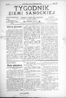 Tygodnik Ziemi Sanockiej, 1913, nr 47