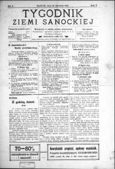 Tygodnik Ziemi Sanockiej, 1914, nr 4