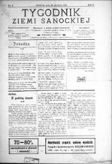 Tygodnik Ziemi Sanockiej, 1914, nr 5
