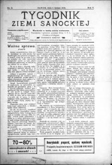 Tygodnik Ziemi Sanockiej, 1914, nr 6