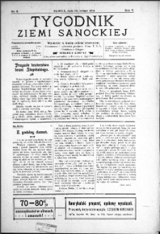 Tygodnik Ziemi Sanockiej, 1914, nr 8
