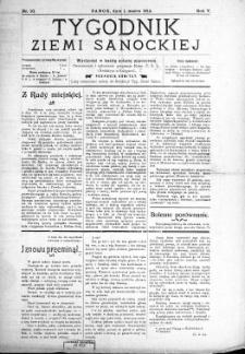 Tygodnik Ziemi Sanockiej, 1914, nr 10