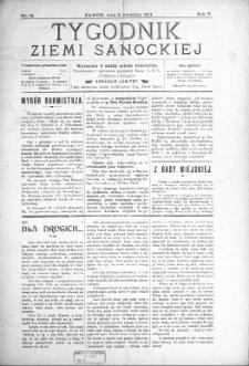 Tygodnik Ziemi Sanockiej, 1914, nr 15