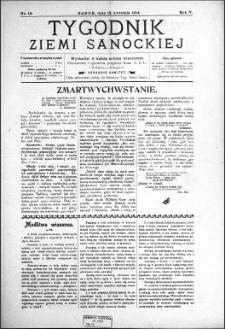 Tygodnik Ziemi Sanockiej, 1914, nr 16