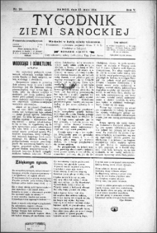 Tygodnik Ziemi Sanockiej, 1914, nr 20