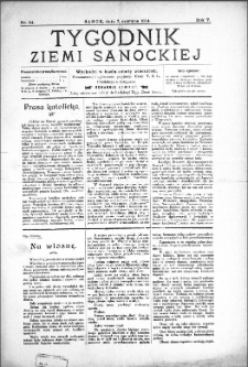 Tygodnik Ziemi Sanockiej, 1914, nr 24