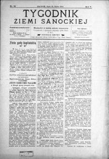 Tygodnik Ziemi Sanockiej, 1914, nr 29