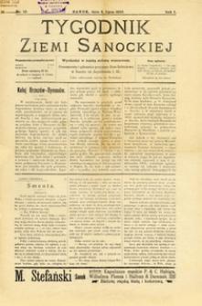 Tygodnik Ziemi Sanockiej, 1910, nr 10