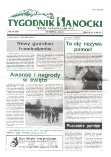 Tygodnik Sanocki, 1996, nr 34