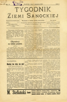 Tygodnik Ziemi Sanockiej, 1910, nr 15