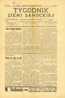 Tygodnik Ziemi Sanockiej, 1910, nr 20