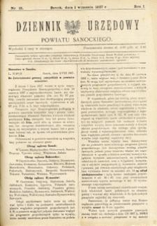 Dziennik Urzędowy Powiatu Sanockiego, 1927, nr 15