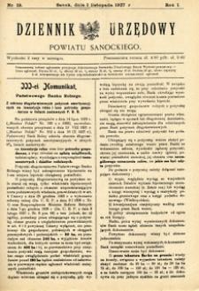 Dziennik Urzędowy Powiatu Sanockiego, 1927, nr 19