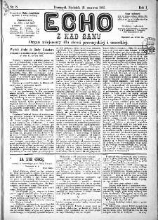 Echo z nad Sanu, 1885, nr 8