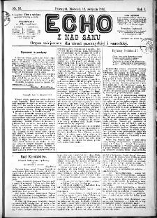 Echo z nad Sanu, 1885, nr 16