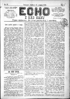 Echo z nad Sanu, 1885, nr 17