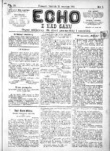 Echo z nad Sanu, 1885, nr 20