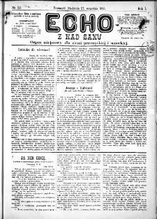 Echo z nad Sanu, 1885, nr 22