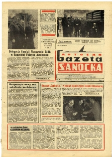 "Gazeta Sanocka ""Autosan"", 1978, nr 29"