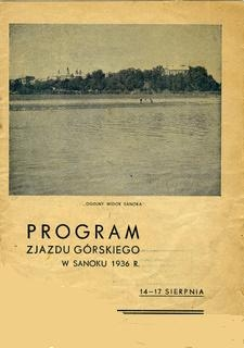 Program Zjazdu Górskiego w Sanoku w 1936 r., 14-17 sierpnia