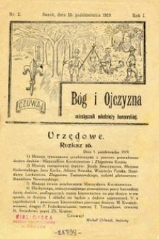 Bóg i Ojczyzna, 1919, nr 2