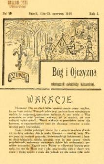 Bóg i Ojczyzna, 1920, nr 10
