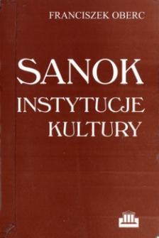 Sanok : instytucje kultury