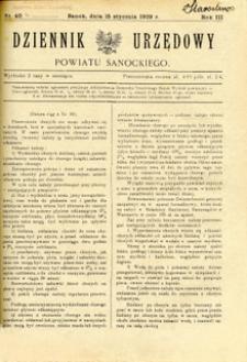 Dziennik Urzędowy Powiatu Sanockiego, 1929, nr 40