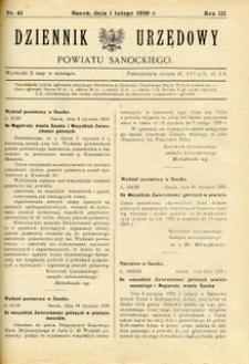 Dziennik Urzędowy Powiatu Sanockiego, 1929, nr 41