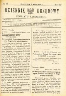 Dziennik Urzędowy Powiatu Sanockiego, 1929, nr 46