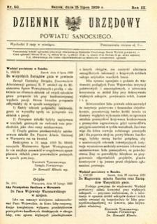 Dziennik Urzędowy Powiatu Sanockiego, 1929, nr 50