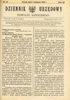 Dziennik Urzędowy Powiatu Sanockiego, 1929, nr 51