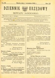 Dziennik Urzędowy Powiatu Sanockiego, 1929, nr 52