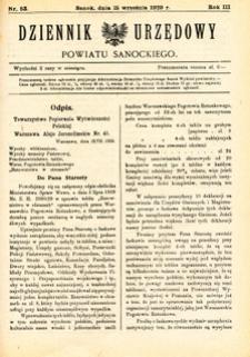 Dziennik Urzędowy Powiatu Sanockiego, 1929, nr 53
