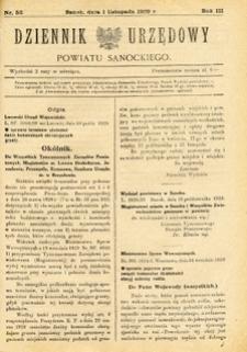Dziennik Urzędowy Powiatu Sanockiego, 1929, nr 56