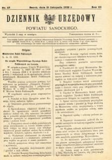 Dziennik Urzędowy Powiatu Sanockiego, 1929, nr 57