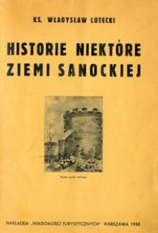Historie niektóre ziemi sanockiej