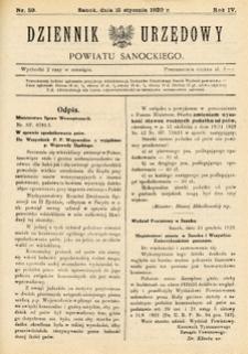Dziennik Urzędowy Powiatu Sanockiego, 1930, nr 59