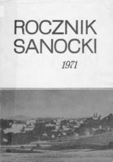 Rocznik Sanocki, 1971